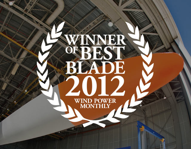 The World's best blade - The D49 - Voted Wind Power Monthly�s blade of the year 2012.
